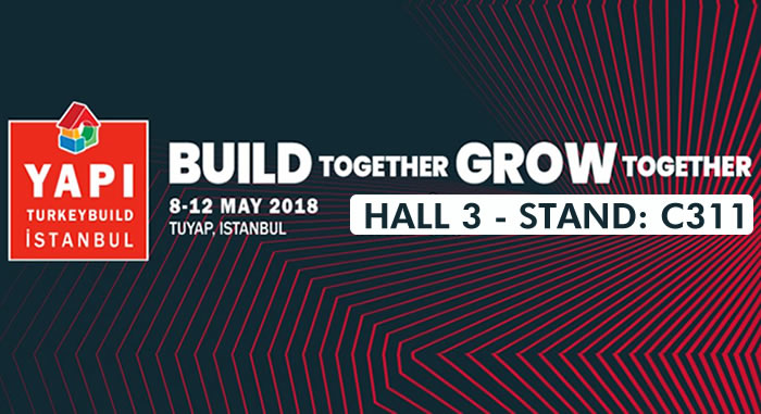 We are at 41th YAPI – TURKEYBUILD Istanbul Exhibition